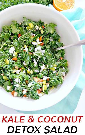 kale coconut detox salad recipe