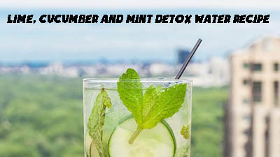 lime cucumber mint detox water