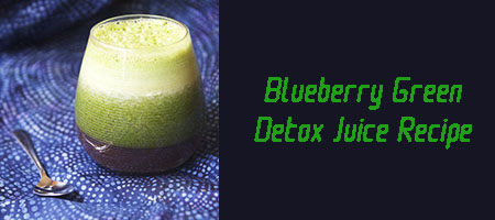 Blueberry Green Detox Juice Recipe